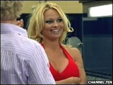 Pamela Anderson in Australian Big Brother house